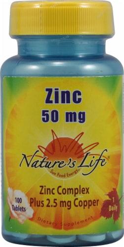 Nature's Life  Zinc Perspective: front