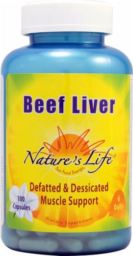 Nature's Life  Beef Liver Perspective: front