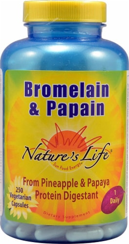 Nature's Life  Bromelain and Papain Perspective: front
