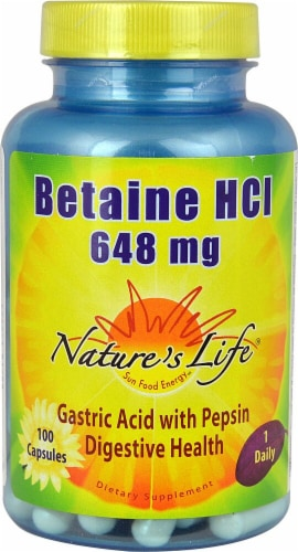 Nature's Life  Betaine HCl Perspective: front