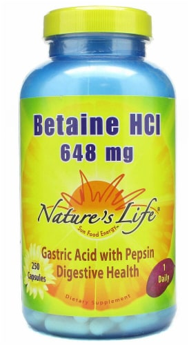 Nature's Life  Betaine Hydrochloride Perspective: front