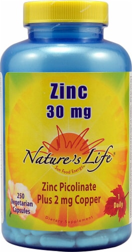 Nature's Life Zinc Picolinate Cpas 30mg Perspective: front