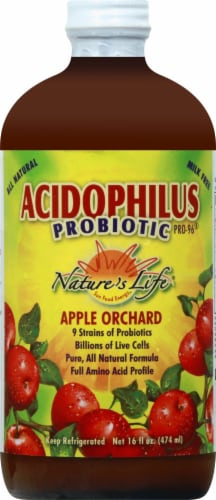 Nature's Life Acidophilus Probiotic Pro 96 Apple Orchard Probiotic Drink Perspective: front