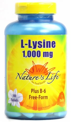Nature's Life  L-Lysine Perspective: front