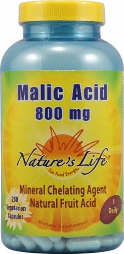 Nature's Life Malic Acid Capsules 800mg Perspective: front