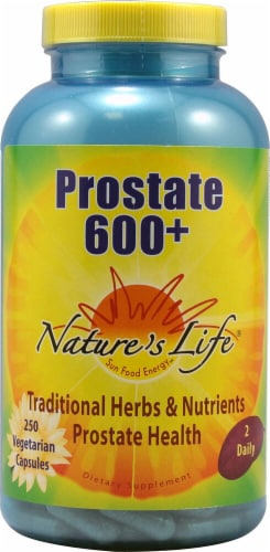 Nature's Life  Prostate 600 + Vegetarian Capsules Perspective: front
