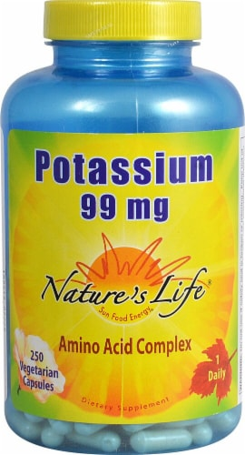 Nature's Life Potassium Capsules 99 mg Perspective: front