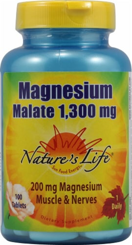 Nature's Life  Magnesium Malate Perspective: front