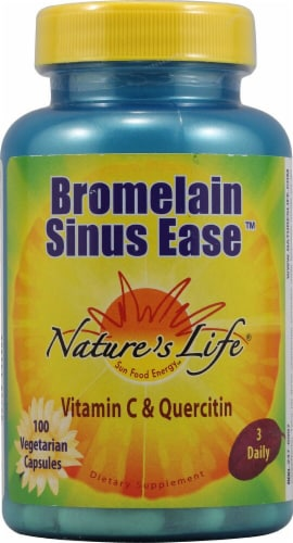 Nature's Life  Bromelain Sinus Ease™ Perspective: front