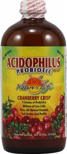 Nature's Life  Acidophilus Probiotic PRO-96®   Cranberry Crisp Perspective: front