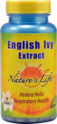 Nature's Life English Ivy Extract Tablets Perspective: front