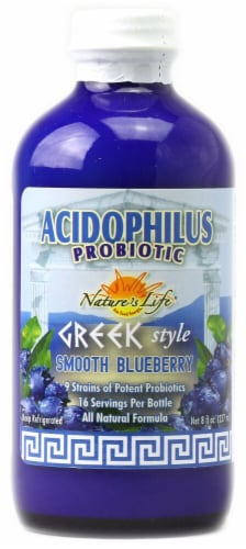 Nature's Life  Acidophilus Probiotic Greek Style   Smooth Blueberry Perspective: front