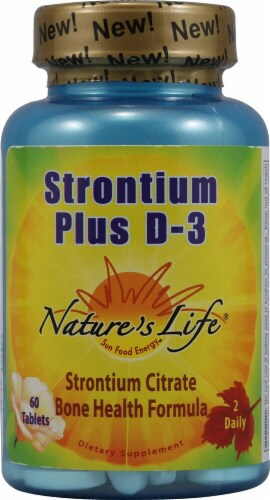 Nature's Life  Strontium Plus D3 Perspective: front