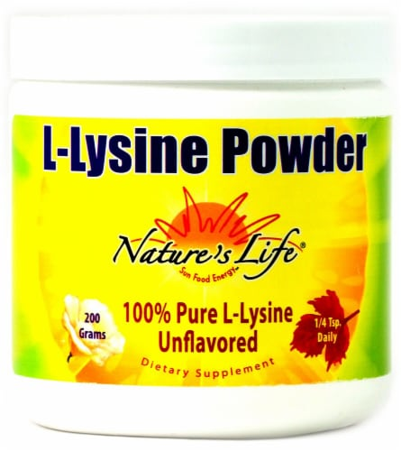 Nature's Life  L-Lysine Powder   Unflavored Perspective: front