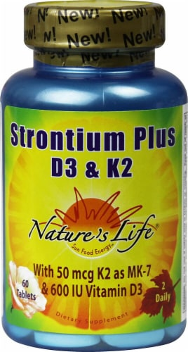 Nature's Life  Strontium Plus D3 & K2 Perspective: front