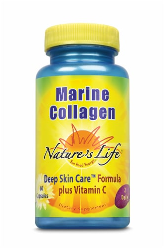 Nature's Life Marine Collagen Capsules Perspective: front