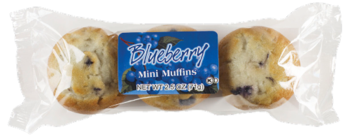Cafe Valley Blueberry Mini Muffins 3 Count Perspective: front
