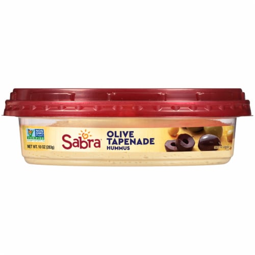 Sabra Olive Tapenade Hummus Perspective: front
