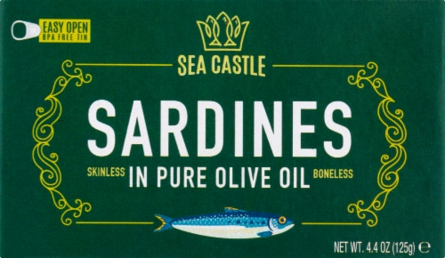 Sea Castle Sardines in Pure Olive Oil Perspective: front