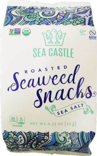 Sea Castle Organic Sea Salt Roasted Seaweed Snacks Perspective: front