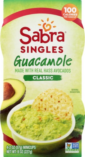 Sabra Singles Classic Guacamole Minicups Perspective: front