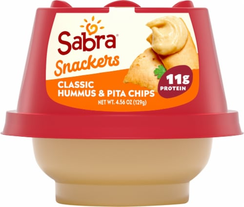 Sabra Snackers Classic Hummus & Pita Chips Perspective: front