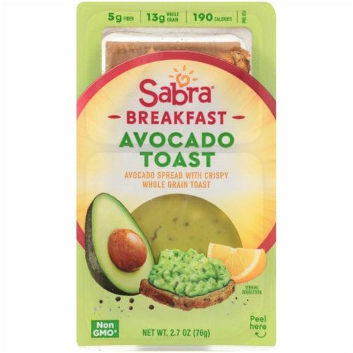 Sabra Breakfast Avocado Toast & Spread Perspective: front