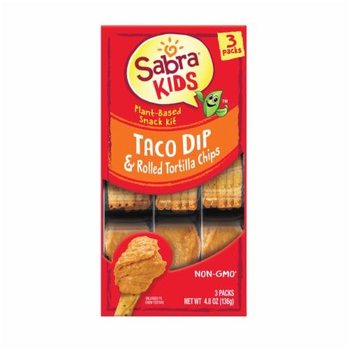 Sabra Kids Taco Dip & Rolled Tortilla Chips Plant-Based Snack Kit Perspective: front