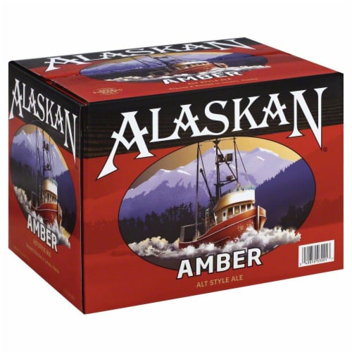 Alaskan Brewing Co. Amber Alt Style Ale Perspective: front