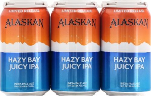 Alaskan Brewing Co. Hazy Bay Juicy IPA Beer Perspective: front