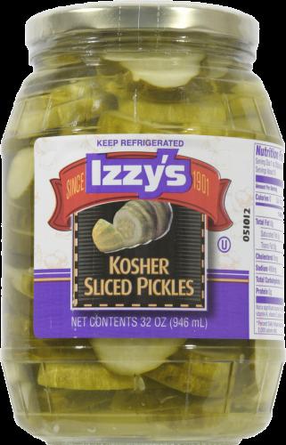 Izzy's Kosher Sliced Pickles Perspective: front