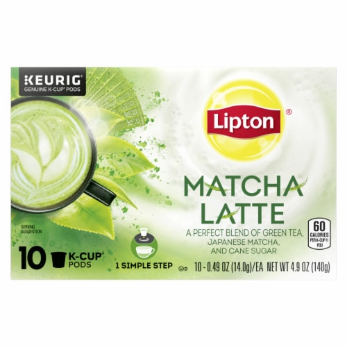 Lipton Matcha Latte Green Tea K-Cup Pods 10 Count Perspective: front