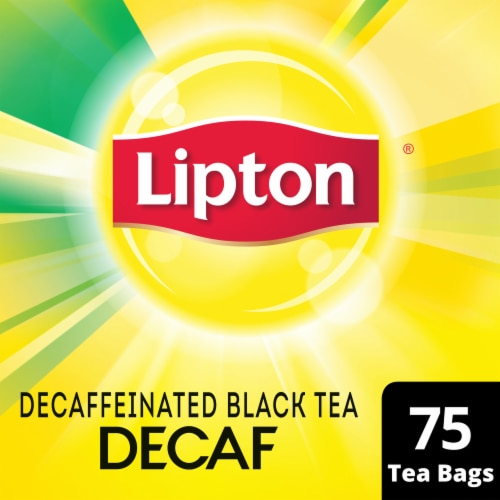 Lipton Decaffeinated Black Tea Bags Perspective: front