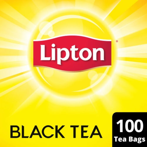 Lipton Black Tea Bags 100 Count Perspective: front