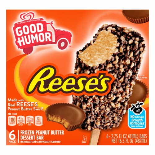 Good Humor Reese's Frozen Peanut Butter Dessert Bars Perspective: front