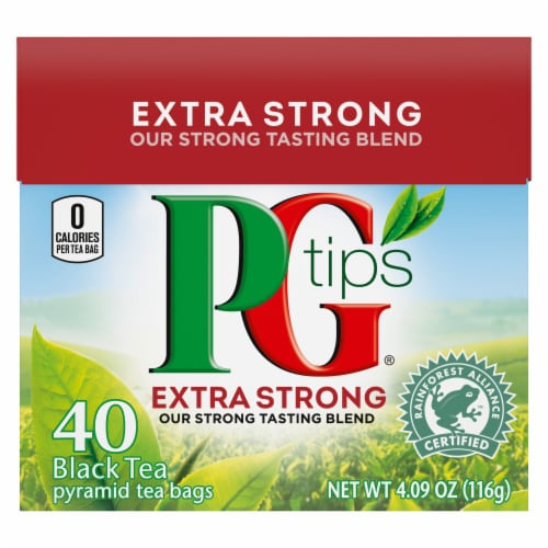 Unilever Extra Strong Black Tea Pyramid Tea Bags 40 Count Perspective: front