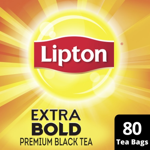 Lipton Extra Bold Premium Black Tea Bags Perspective: front