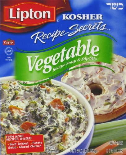 Lipton Kosher Vegetable Soup and Dip Mix Perspective: front