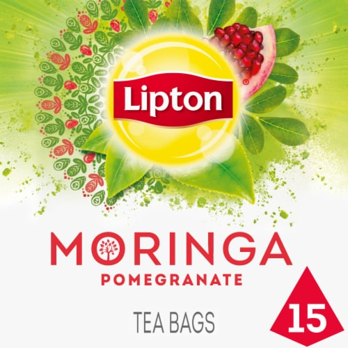 Lipton Miracle Moringa Pomegranate Green Tea Bags Perspective: front
