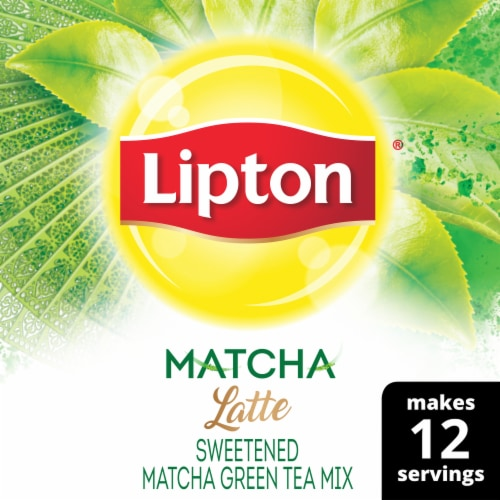 Lipton Matcha Latte Sweetened Green Tea Mix Perspective: front