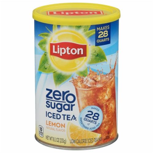 Lipton Lemon Zero Sugar Ice Tea Mix Perspective: front