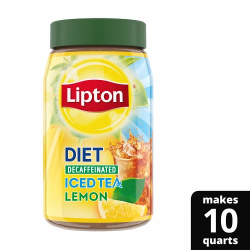 Lipton Lemon Decaffeinated Diet Iced Tea Mix Perspective: front