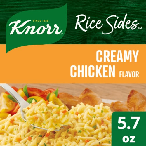 Knorr Rice Sides Creamy Chicken Flavor Rice and Pasta Blend Perspective: front