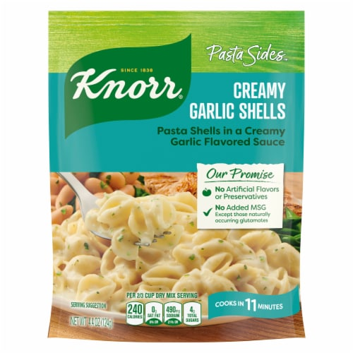Knorr Italian Sides Creamy Garlic Shells Dish Perspective: front