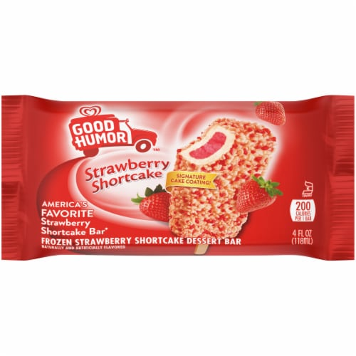 Good Humor Strawberry Shortcake Bar Perspective: front