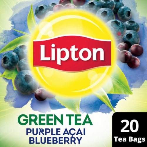 Lipton Purple Acai Blueberry Green Tea Bags Perspective: front