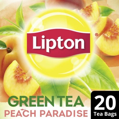 Lipton Peach Paradise Green Tea Bags Perspective: front
