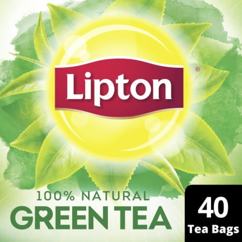 Lipton 100% Natural Green Tea Bags Perspective: front