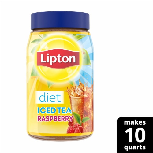 Lipton Raspberry Diet Iced Tea Mix Perspective: front