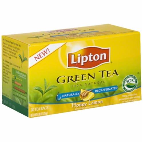 Lipton Decaffeinated Honey Lemon Chamomile Green Tea Bags Perspective: front
